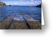 Bodies Greeting Cards - Jetty. Normandy. France Greeting Card by Bernard Jaubert