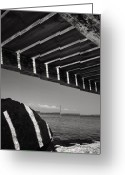 Fyn Greeting Cards - Jetty Shadows Greeting Card by Robert Lacy
