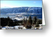 Okanagan Greeting Cards - Jewel Of The Okanagan Greeting Card by Will Borden