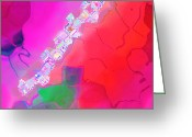 Jewel Tones Digital Art Greeting Cards - Jewel Ray Greeting Card by Patricia L Conklin