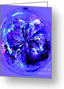 Violet Blue Digital Art Greeting Cards - Jewel Greeting Card by Terril Heilman