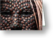 Face Reliefs Greeting Cards - Jeweled Greeting Card by Adam Long
