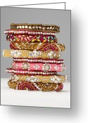 Gold Bracelet Greeting Cards - Jewerly Greeting Card by Nicholas Eveleigh