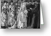 Rabbi Greeting Cards - JEWISH WEDDING, c1892 Greeting Card by Granger