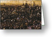 Custom Culture Greeting Cards - Jews Gather Every Day To Pray Greeting Card by Michael Melford