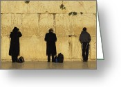 Sanctified Greeting Cards - Jews Pray At The Western Wall Greeting Card by Annie Griffiths