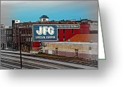 Art Of Building Greeting Cards - JFG Coffee Greeting Card by Steven  Michael