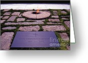 President Kennedy Greeting Cards - JFK - Eternal Flame Greeting Card by Paul W Faust -  Impressions of Light