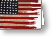 Pt 109 Greeting Cards - JFKs PT-109 Flag Greeting Card by Lori Lafargue