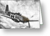 P-51 Mustang Greeting Cards - Jig is Up Greeting Card by Peter Chilelli