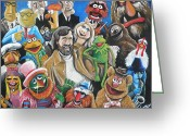 Tom Greeting Cards - Jim Henson and Co. Greeting Card by Tom Carlton
