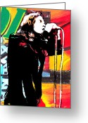 The Doors Mixed Media Greeting Cards - Jim  Greeting Card by Kevin Newton