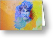 Rolling Stones Greeting Cards - Jim Morisson Greeting Card by Irina  March