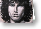 Morrison Greeting Cards - Jim Morrison - The Doors Greeting Card by Eric Dee