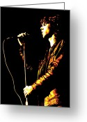 Writer Greeting Cards - Jim Morrison Greeting Card by Dean Caminiti