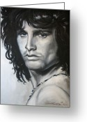 Morrison Greeting Cards - Jim Morrison Greeting Card by Eric Dee