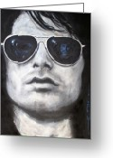 Morrison Greeting Cards - Jim Morrison III Greeting Card by Eric Dee