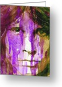Morrison Greeting Cards - Jim Morrison Greeting Card by Paul Lovering