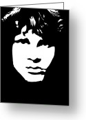 Jim Morrison Greeting Cards - Jim Morrison  Greeting Card by Yael Rosen