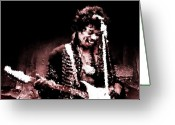 Long Neck Greeting Cards - Jimi  Greeting Card by Andrea Barbieri