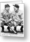 Jimmie Greeting Cards - Jimmie and Lou Greeting Card by Bruce Kay