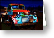 Taos Mixed Media Greeting Cards - Jimmy at night Greeting Card by Charles Muhle