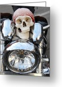 Harley Davidson Rally Greeting Cards - Jimmy Bones Greeting Card by Anthony Wilkening