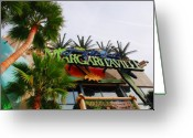 The Buffet Photo Greeting Cards - Jimmy Buffets Margaritaville in Las Vegas Greeting Card by Susanne Van Hulst