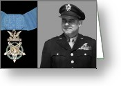 Army Air Corps Greeting Cards - Jimmy Doolittle and The Medal of Honor Greeting Card by War Is Hell Store