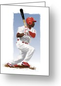Jimmy Rollins Greeting Cards - Jimmy Rollins Greeting Card by Scott Weigner