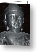 Karma Greeting Cards - Jingan Silver Buddha - Shanghai China Greeting Card by Christine Till - CT-Graphics