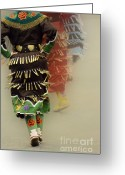 Ceremony Greeting Cards - Jingle Dancers 2 Greeting Card by Bob Christopher