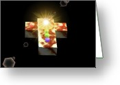 Religious Artist Digital Art Greeting Cards - Jo Maris Cross 7 Greeting Card by Jo Mari Montesa