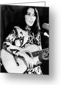 Singer Songwriter Greeting Cards - Joan Baez (1941-   ) Greeting Card by Granger