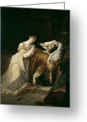 Femme Painting Greeting Cards - Joanna the Mad with Philip I the Handsome Greeting Card by Louis Gallait