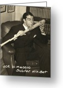 Signature Photo Greeting Cards - Joe Dimaggio (1914-1999) Greeting Card by Granger
