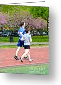 Male Athletes Greeting Cards - Jogging Greeting Card by Photo Researchers