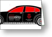 Asbjorn Lonvig Greeting Cards - Johan Sebastian Bachs BMW 7 Greeting Card by Asbjorn Lonvig