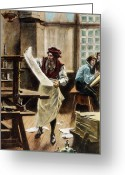 Jules Photo Greeting Cards - Johann Gutenberg Greeting Card by Granger