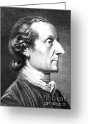 Physiognomy Greeting Cards - Johann Kaspar Lavater, Swiss Greeting Card by Science Source