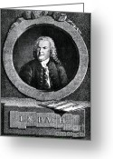 Music Icon Greeting Cards - Johann Sebastian Bach 1685-1750 Greeting Card by Omikron