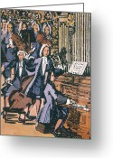 1732 Greeting Cards - Johann Sebastian Bach, 1732 Greeting Card by Granger