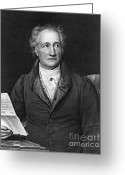 Portrait Artist Photo Greeting Cards - Johann Von Goethe, German Author Greeting Card by Photo Researchers, Inc.