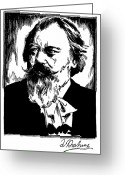 1930s Greeting Cards - Johannes Brahms (1833-1897) Greeting Card by Granger