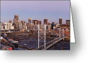 Johannesburg Greeting Cards - Johannesburg Skyline and Railway Station Greeting Card by Jeremy Woodhouse