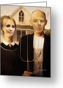 Lady Gaga Greeting Cards - John and Kate Plus Eight Greeting Card by Anthony Caruso