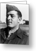 Marine Corps Greeting Cards - John Basilone Greeting Card by War Is Hell Store