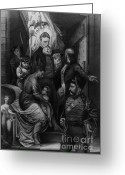 Charlestown Greeting Cards - John Brown Meeting Slave Mother Greeting Card by Photo Researchers