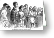 Charlestown Greeting Cards - John Brown Trial, 1859 Greeting Card by Granger