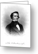 Autograph Greeting Cards - John Cabell Breckinridge Greeting Card by Granger